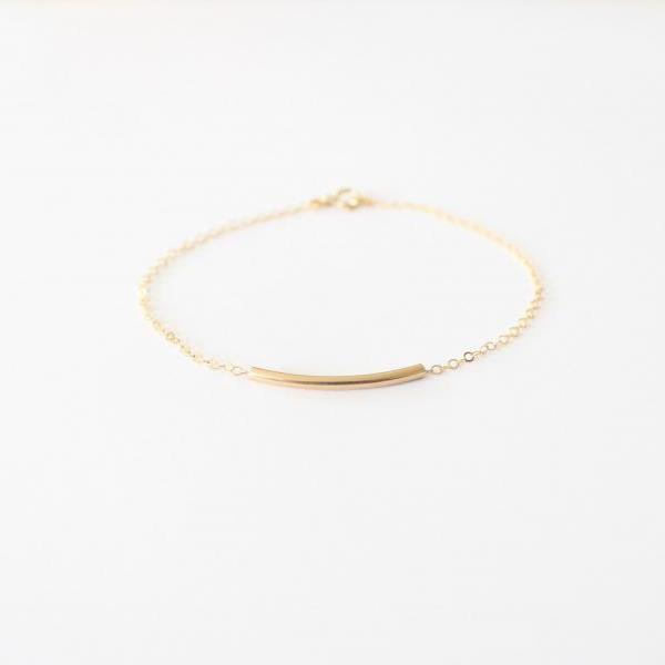 Gold Bar Bracelet - 14kt gold-filled bar bracelet