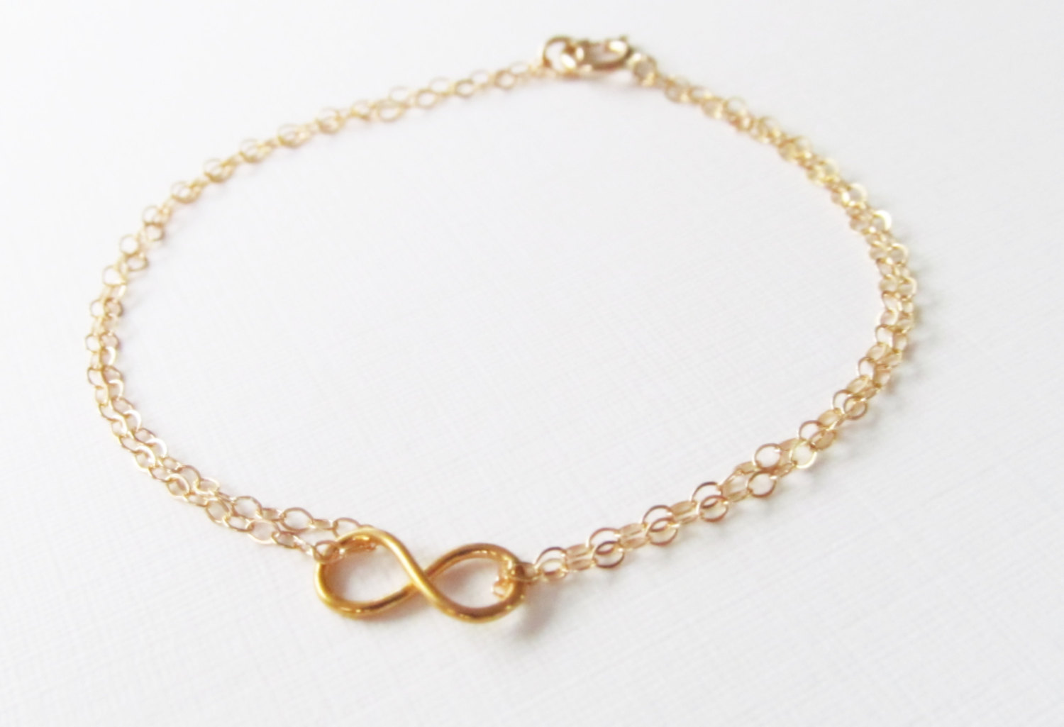 Mini Infinity Bracelet 14kt Gold Filled Gift For Her