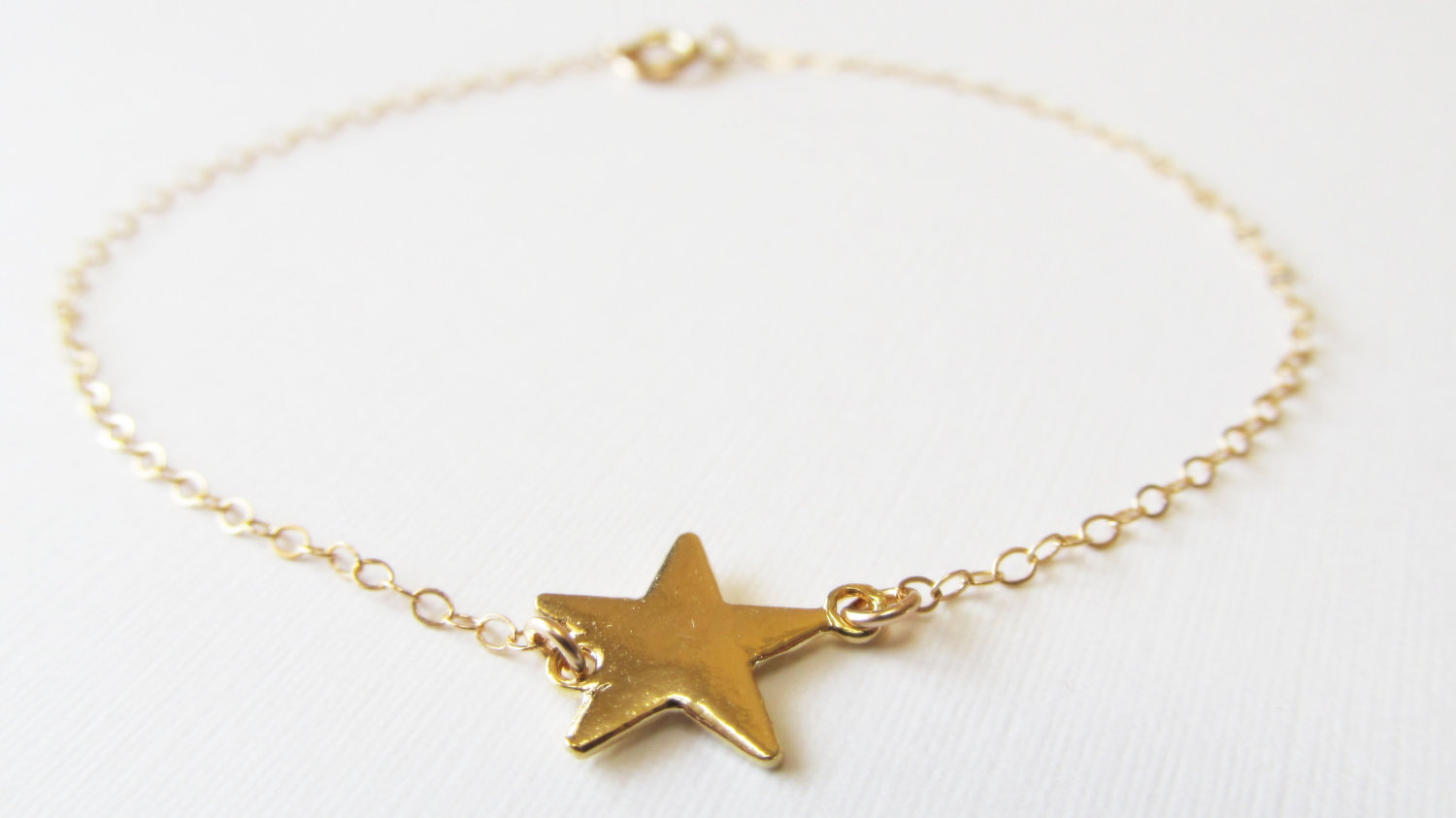 Gold Star Bracelet 14kt Filled Gift For Her